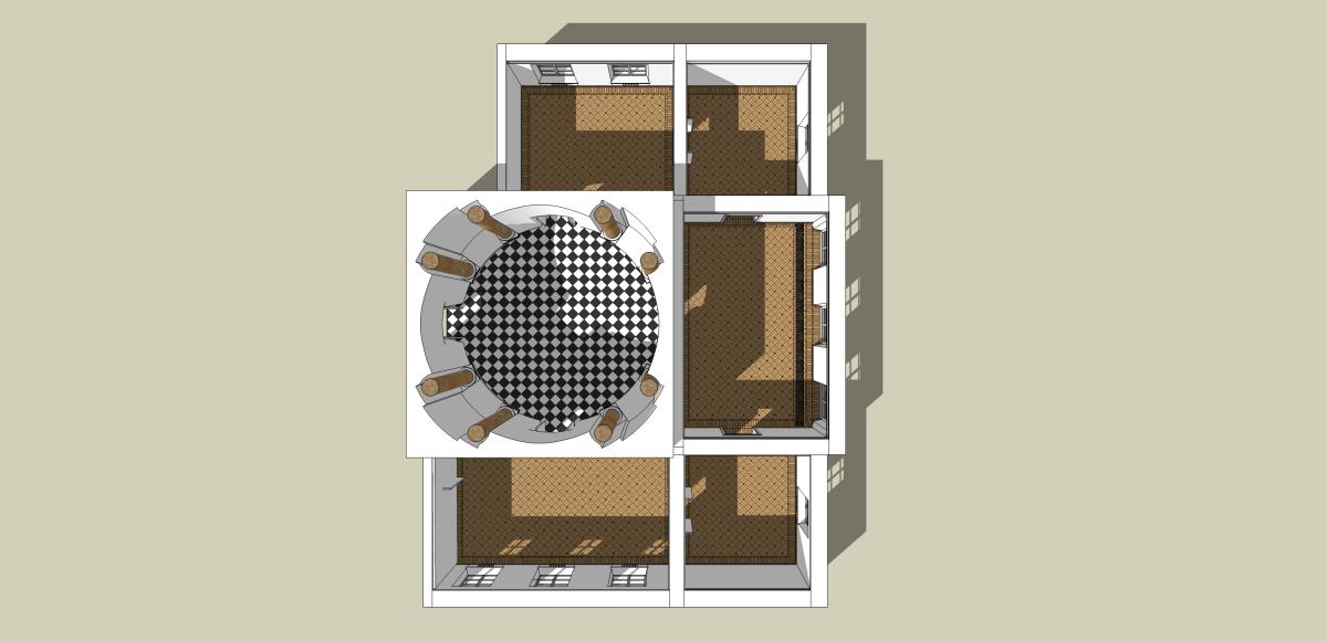 Królikarnia rzut 3D